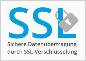 SSL Verschlüsselung Ihrer Daten